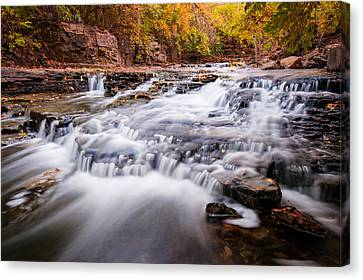 Fall On The River Canvas Print by Gregory Ballos