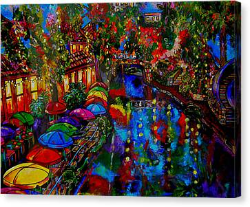 Fall On The Riverwalk Canvas Print