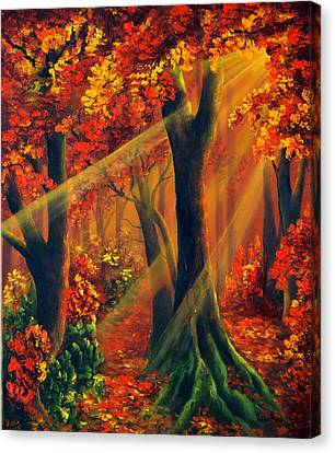 Fall Rays Canvas Print
