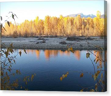 Canvas Print featuring the photograph Fall Reflection 2 by Jewel Hengen