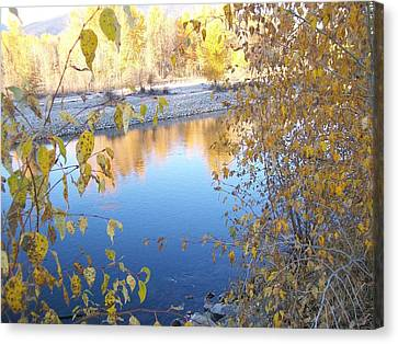 Canvas Print featuring the photograph Fall Reflection by Jewel Hengen