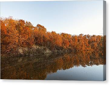 Fall Reflection Canvas Print by Robin Williams