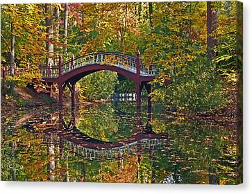 Canvas Print featuring the photograph Fall Reflections At Crim Dell by Jerry Gammon