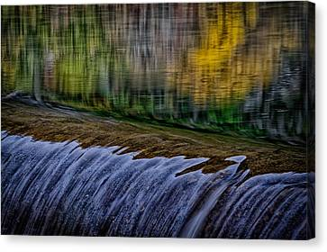 Fall Reflections At Tumwater Spillway Canvas Print