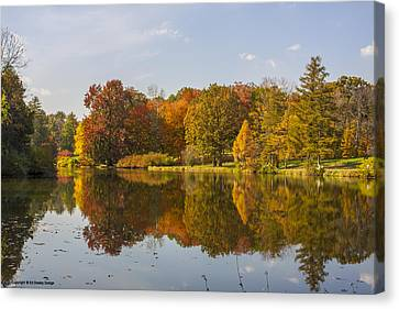 Canvas Print featuring the photograph Fall Reflections by Ed Dooley