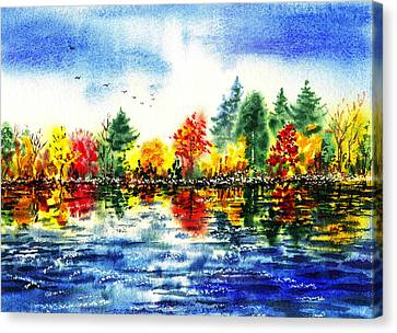 Fall Reflections Canvas Print by Irina Sztukowski