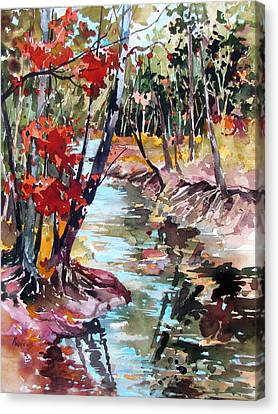 Fall Reflections Canvas Print by Rae Andrews