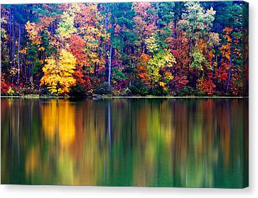 Fall Reflections Canvas Print by Tony  Colvin