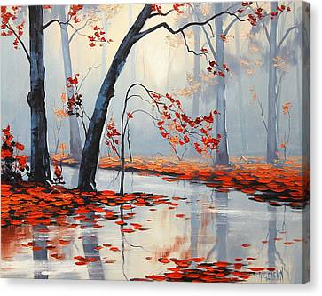 Fall River Painting Canvas Print by Graham Gercken