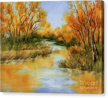 Fall River Canvas Print by Summer Celeste