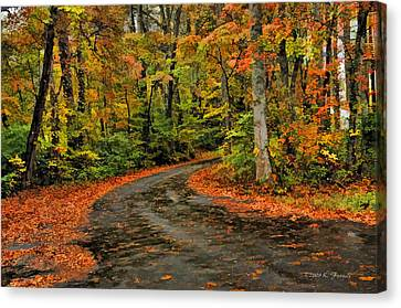 Fall Road To Glory Canvas Print by Kenny Francis