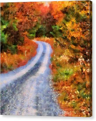 Fall Road To Paradise Canvas Print by Dan Sproul