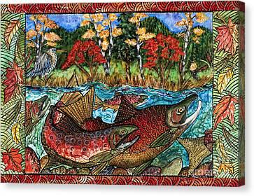 Fall Salmon Canvas Print