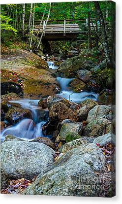 Canvas Print featuring the photograph Fall Scene In Nh by Mike Ste Marie