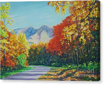 Fall Scene - Mountain Drive Canvas Print