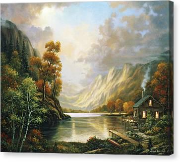Fall Serene Canvas Print by John Zaccheo