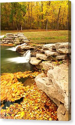 Fall Serenity Canvas Print by Gregory Ballos