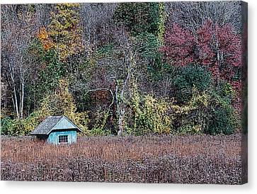 Fall Shed #1 Canvas Print by Glenn Cuddihy