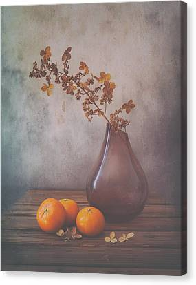 Tangerines Canvas Print - Fall by Sophie Pan
