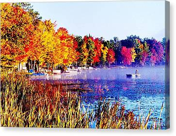 Canvas Print featuring the photograph Fall Splendor Of Mid-michigan by Daniel Thompson