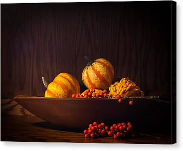 Canvas Print featuring the photograph Fall Still Life by Wayne Meyer