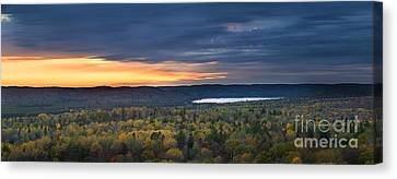 Fall Sunset In Wilderness Canvas Print by Elena Elisseeva