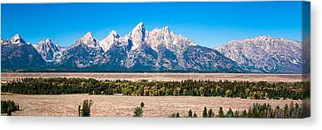 Fall Tetons Panorama   Canvas Print