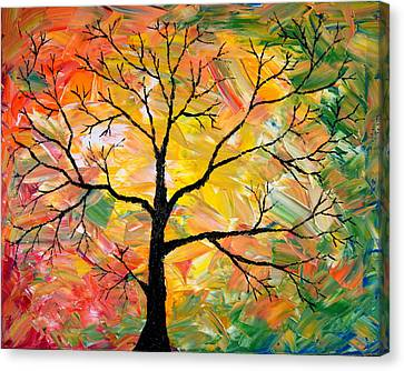 Fall Tree Canvas Print by Cevin Cox
