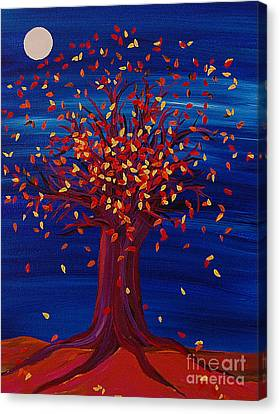 Canvas Print featuring the painting Fall Tree Fantasy By Jrr by First Star Art
