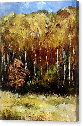 Fall Trees Three Canvas Print by Lindsay Frost