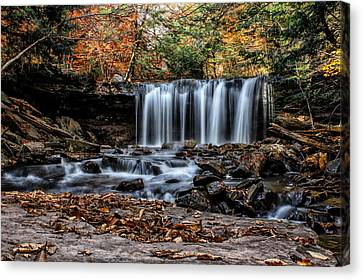 Canvas Print featuring the photograph Fall Water by David Stine