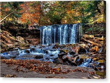 Canvas Print featuring the photograph Fall Water Fantasy by David Stine