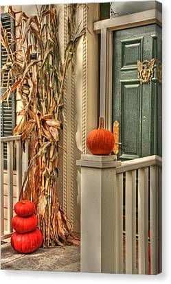 Fall Welcome Canvas Print by Heather Allen
