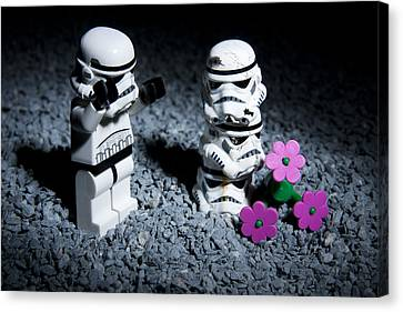 Fallen Friends Canvas Print by Samuel Whitton