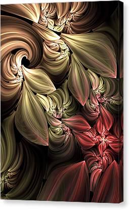 Algorythm Canvas Print - Fallen From Grace Abstract by Georgiana Romanovna