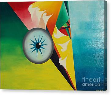 Canvas Print featuring the painting Fallen From Grace by PainterArtist FIN