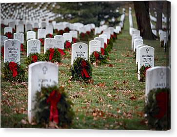 Fallen Heroes Honor And Remember Canvas Print by Eduard Moldoveanu