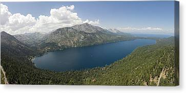 Fallen Leaf Lake Panorama Canvas Print by David Levy