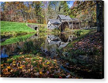 Fallen Leaves At Mabry Mill Canvas Print