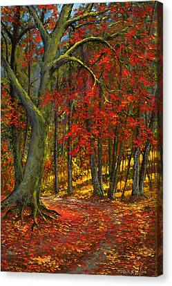 Fallen Leaves Canvas Print by Frank Wilson