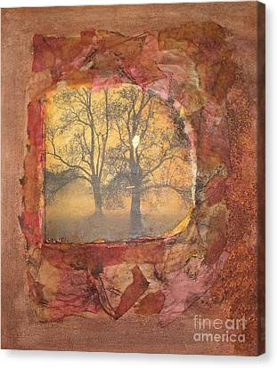 Fallen Leaves Canvas Print by Leslie Jennings
