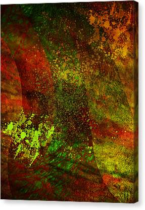 Canvas Print featuring the mixed media Fallen Seasons by Ally  White