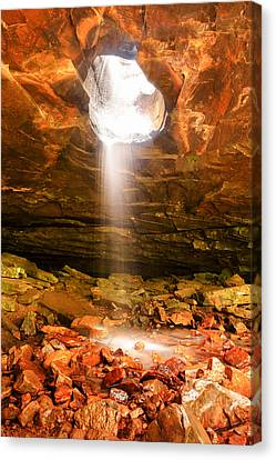 Cavern Canvas Print - Falling Down - Glory Falls by Gregory Ballos
