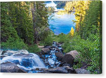 Falling Down To The Lakes Canvas Print