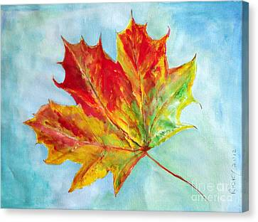 Falling Leaf - Painting Canvas Print