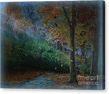 Falling Leaves Canvas Print