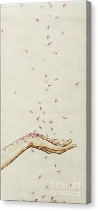 Canvas Print - Falling Pink by Andrea Benson