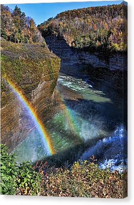 Canvas Print featuring the photograph Falling Rainbow by David Stine