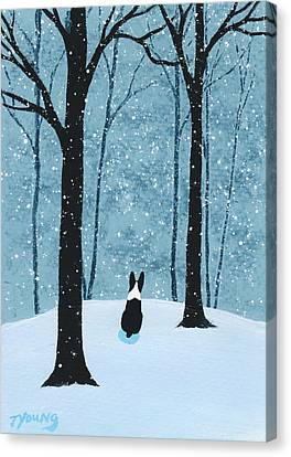 Falling Snow Canvas Print by Todd Young