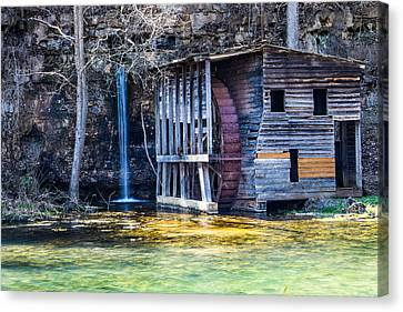 Falling Spring Mill Canvas Print by Steven Bateson